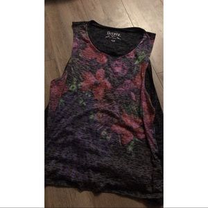 Flower printed tank top